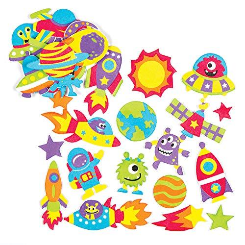Baker Ross - Pegatinas de Espuma del Sistema Solar (Pack de 12) Manualidades educativas para niños (AC111)