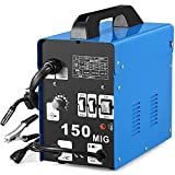 SUNGOLDPOWER MIG 150A Welder Flux Core Wire Automatic Feed Welding AC Welder Gasless Machine Free Mask NO Gas (Renewed)