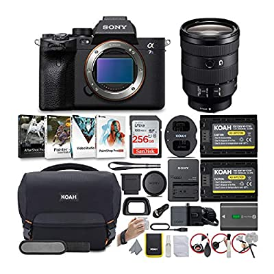 Sony Alpha a7S III Mirrorless Digital Camera with 24-105mm G-Series Lens Bundle (6 Items) from Sony