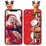 ZhuoFan Navidad Funda para Honor 9 Lite [5.65'] Rojo Suave Silicona TPU Cárcasa con 3D Muñeca Papá Noel y Xmas Dibujos, Bumper Case Anti-rasguños Fundas para Honor 9 Lite