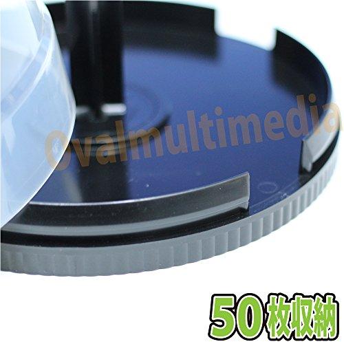『スピンドルケース ディスク50枚入れ用2個/DVDやBlu-rayDiscを50枚収納可能』の2枚目の画像