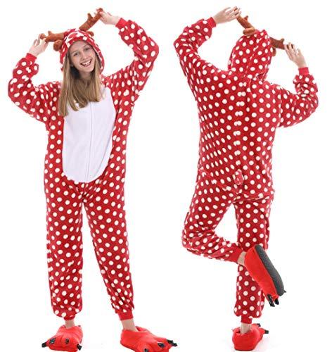 Qaoping Ropa de Dormir Pijama Pijamas Adultos Animales Pijamas Invierno Invierno Pijama Mono Monumentos Disfraz