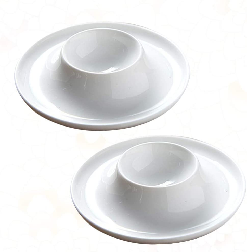 DOITOOL 2PCS Ceramic Egg Cups A surprise price 2021 model is realized Boiled Soft Set Eggs H
