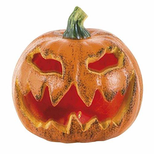 Zucca decorativa Halloween (Ø 16cm) con luce