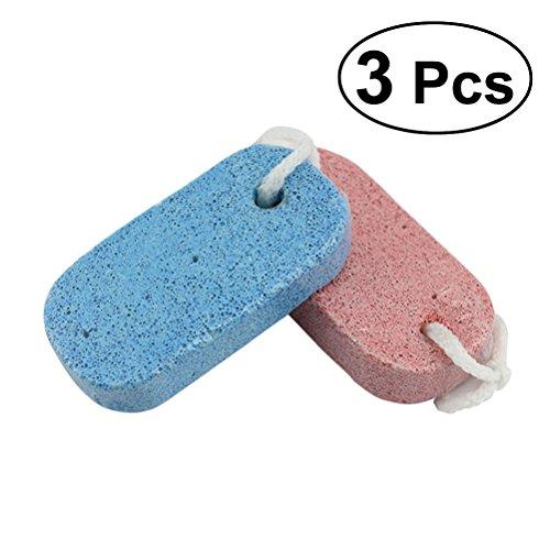 ULTNICE 3pcs Scrubber de calus de dossier de pied pour l'exfoliation pour enlever la peau morte (couleur mélangée)