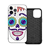 Case Compatible With Iphone 12 Case 6.1 Inches Day Dead Sugar Skull With Mexican Case For Iphone 12 Protector Shockproof Flexible Tpu Bumper And Transparent Hard Pc Back