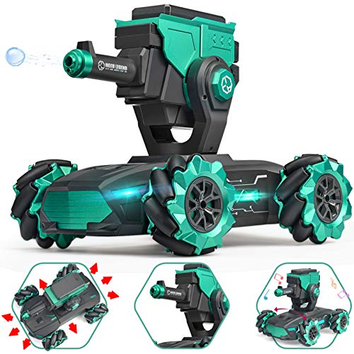 Remote Control Car, 1:10 Scale Water Boom Armored Stunt Car Drift Liniversal Wheel RC Car with Dynamic Music