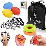 roygra Hand Exerciser, Finger Strengthener, Forearm Trainer, Different Resistance - 8 Pack