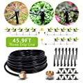 HIRALIY Drip Irrigation Kit Plant Watering System 8x5mm Blank Distribution Tubing DIY Automatic Irrigation Equipment Set for Garden Greenhouse Flower Bed Patio Lawn (91.8, Dark Gray)
