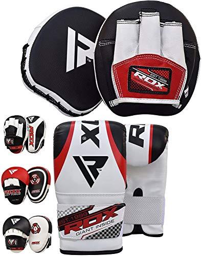 RDX Handpratzen Boxen Pads Boxhandschuhe Boxsack Mitts Kampfsport Boxpads Schlagpolster Kickboxen Training Schlagkissen (MEHRWEG)
