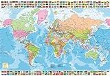 Educa Borrás-1500 Mapamundi Político, Puzzle, Multicolor, Talla Única (17117)