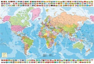 Educa Borrás-1500 Mapamundi Político, Puzzle, Multicolor,