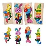 Puzzles de Madera Educativos para Bebé niños, Tablero Juegos Montessori Infantiles 2 3 4 5 años, Bebe Puzzle, Regalo de Cumpleaños/Navidad para Bebés/Niños (C)