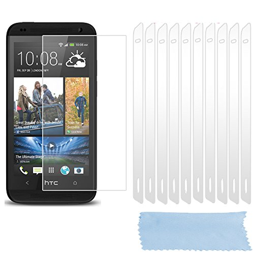 Cadorabo Funda para HTC Desire 610 Pantalla de Vidrio Templado Completo en Transparente – Cristal Antibalas Pelíula Protectora (Tempered Glass) Cobertura Completa con Dureza 9H