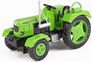 Djyyh おもちゃの車子供のおもちゃKDW合金シミュレーション農業トラクターモデルカーエンジニアリング車カーモデルのおもちゃギフトコレクション (Color : Green)