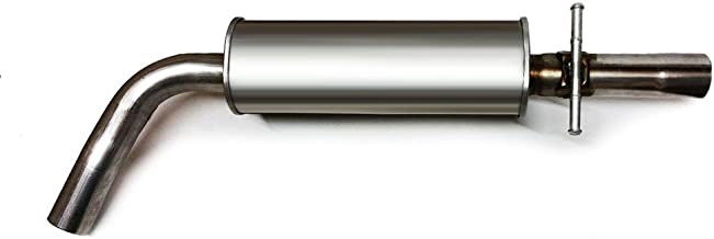 Stainless Steel Exhaust Resonator Center Pipe Fits 1998-2010 VW Beetle Jetta Golf