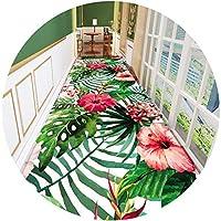 大規模な滑り止め3D植物のフラワー廊下廊下カーペット、階段のキッチンエントランスマットのための長いランナーの敷物の入り口の快適なソフトバルコニーカーペット、幅80/100/120 / 160cm green-160X600CM