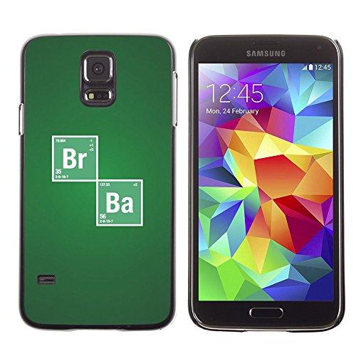 SuperStar // Immagine fredda Custodia rigida Calotta di protezione del PC Hard Case Protective Cover for Samsung Galaxy S5 / Br Ba chimica Segno /
