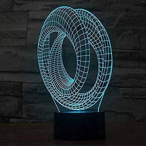 Luz De Noche Led Geométrica 3D, Luz De Ambiente De Dormitorio, Luz De Noche, 16 Tipos De Regalos Navideños Que Cambian De Color