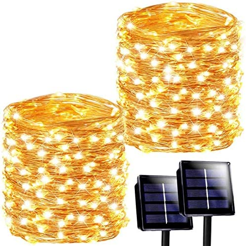 SANJICHA Solar String Lights Outdoor 2 Pack Each 72FT 200 LED Super Bright Solar Outdoor Lights product image