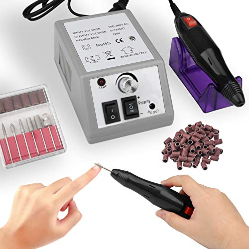 Electric Nail Drill Machine Nail File Drill Set Kit for Acrylic Nails Gel Nail Glazing Nail Drill Nail Art Polisher Sets Glazing Nail Drill Fast Manicure Pedicure for Women Girls Home Salon Use