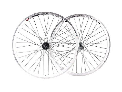 Ruote per bici a scatto fisso, fixie, single speed da 30 mm, con mozzi flip flop da pista Joytech, JOYTECH Flip Flop, White, 28' 700C 622
