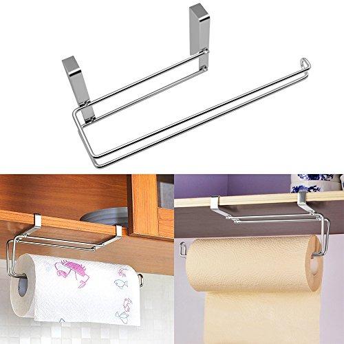 Hysagtek Portarotolo da Cucina Acciaio inossidabile Sotto Mensola Porta Asciugamani SUS304 Carta Igienica Dispenser Rack di Stoccaggio