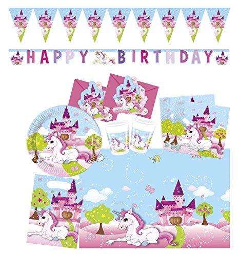 Procos 10108589B Kinderpartyset Unicorn, M