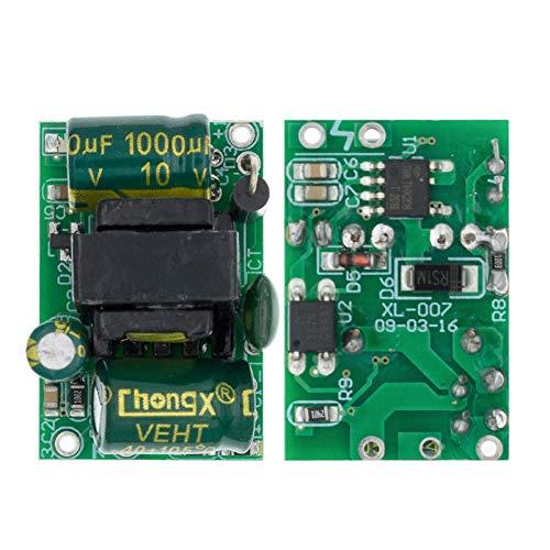 Jgzwlkj Módulo de Poder 5V 700mA (3.5W) Módulo de Fuente de alimentación de Interruptor Aislado AC-DC Buck Módulo Paso Abajo 220V Gire 5V H81