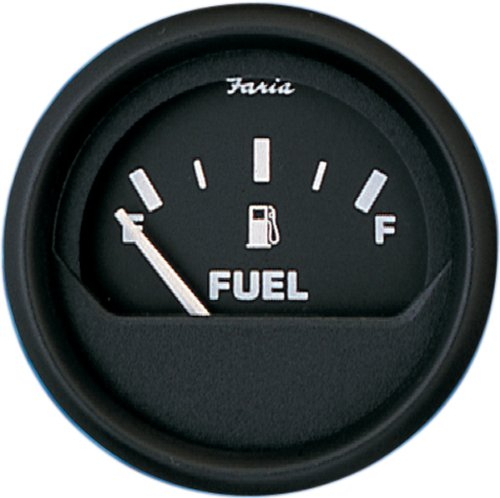 Faria 12801 Euro Fuel Level Gauge (3003.3421), Black