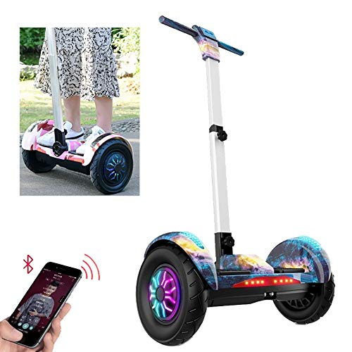 FLy Patinete Eléctrico Auto Equilibrio Hover Board 10 '' con Luces LED...
