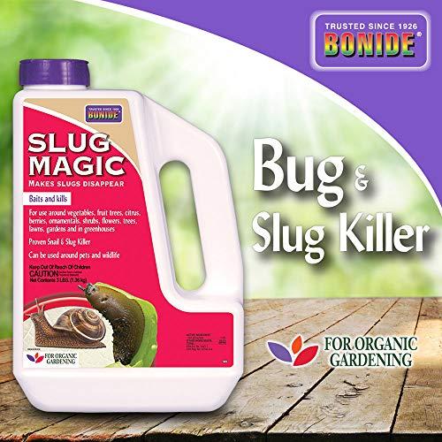 Bonide (BND905) - Slug Magic, Garden Snail and Slug Killer Granules for Organic Gardening, Slug and Snail Insecticide/Pesticide (3 lb.)