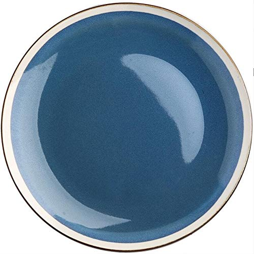 Plato Vajilla de cerámica de zafiro gradual Plato del plato occidental Plato del hogar Plato creativo Plato de filete de pasta