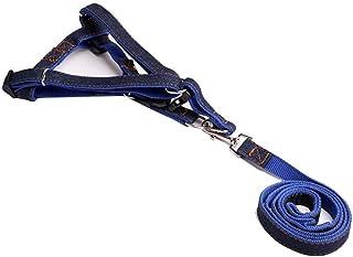 CHUKCHI楚克奇 牛仔胸背带 狗链子狗绳子狗狗牵引绳小中大型犬胸背带 (蓝色, M-胸围约30-45CM)
