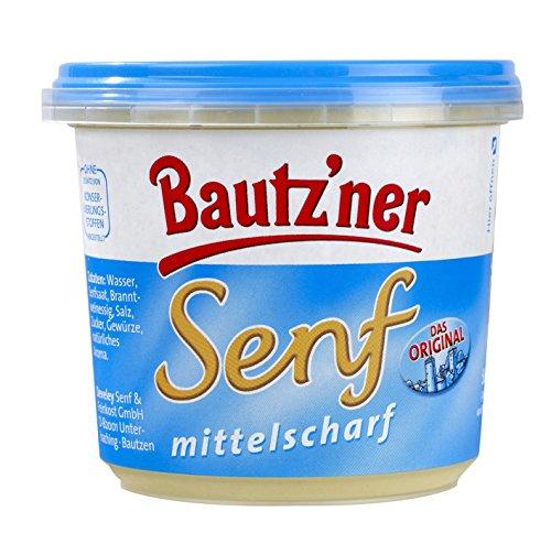 BAUTZ'NER Mittelscharfer Senf, 20er Pack (20 x 200 ml)