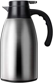 Vacuum Jug 304 Stainless Steel Double-Wall Vacuum Insulated Coffee Pot Coffee Plunger, Juice/Milk/Tea insulation pot 1,7 L...