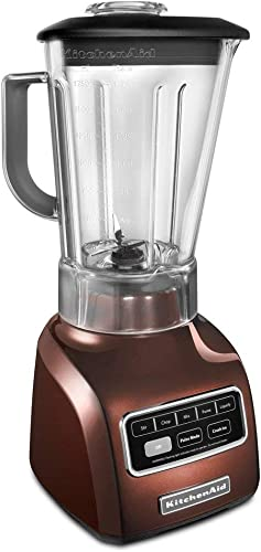 high quality KitchenAid online KSB650ER 5-Speed Blender with Die Cast Base and 56-oz. BPA-Free Pitcher, Espresso online sale (Renewed) online