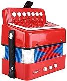 Mini acordeón pequeño para niños, instrumento de acordeón para niños, juguete...