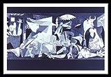 Pablo Picasso Guernica Poster Kunstdruck Bild im Alu Rahmen