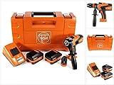 Fein 71161161000 Bohrschrauber ASCM 18 QM | 4-Gang Akku-Bohrmaschine mit bürstenlosem Motor | 2X Li-Ionen Akkus 18V 5Ah, 90 W, 18 V, Orange