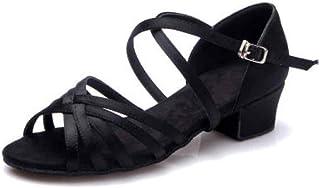 Yefree Chaussures de Danse Latine pour Filles Chaussures à Bride de Cheville Creuses Chaussures à Bout Ouvert