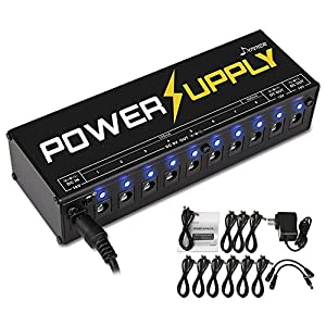Donner Gitarre Pedal Netzteil 10 Isolated Ausgang Pedal Power Supply für 9V/12V/18V Effektpedale (DP-1)