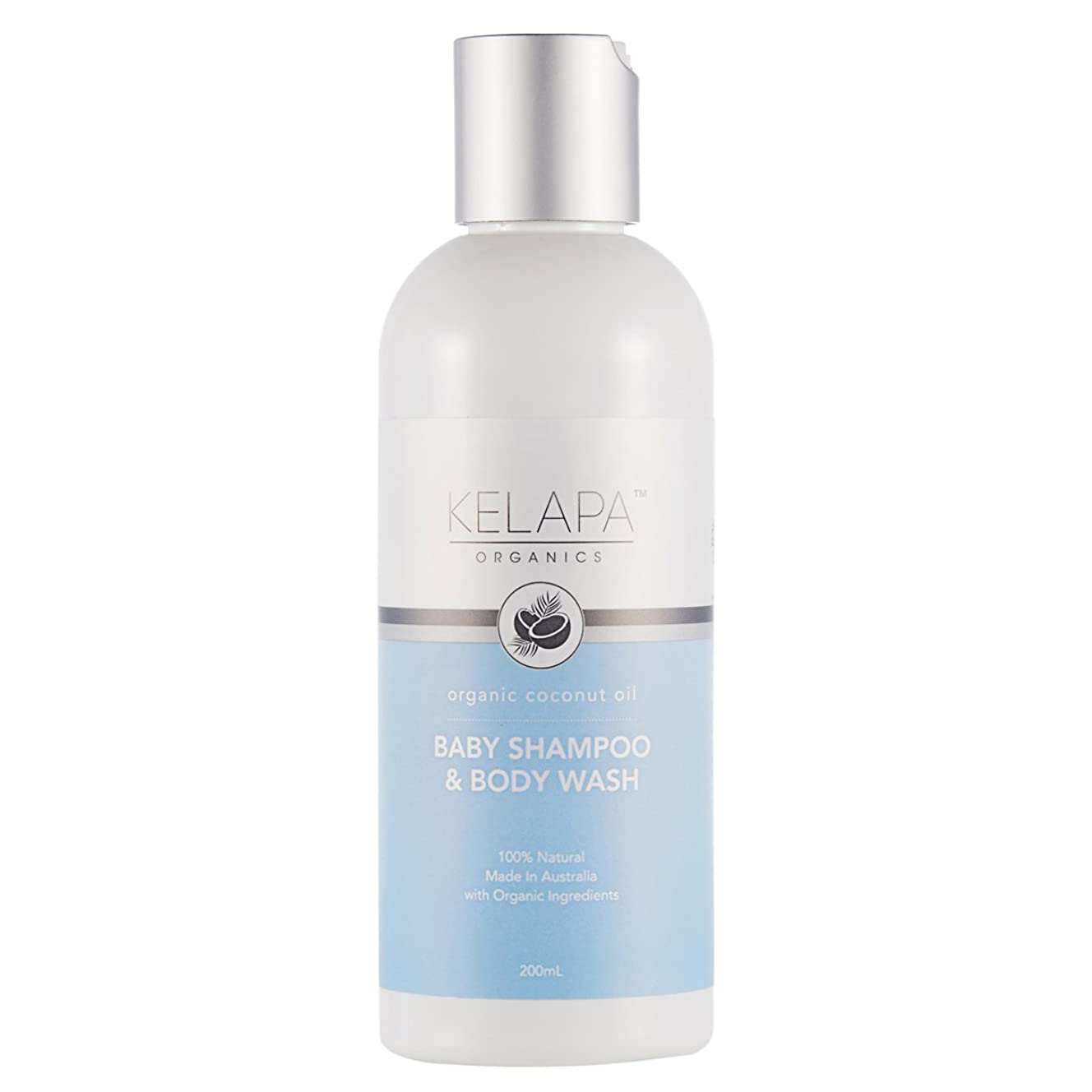 スポーツ死の顎高めるKelapa Organics Baby Shampoo & Body Wash ベイビーシャンプー&ボディウォッシュ 200ml
