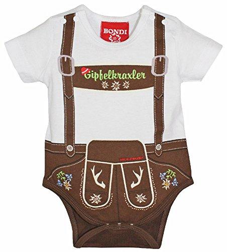 BONDI Baby Body Lederhose ´Gipfelkraxler´ Herzbube Gr. 86