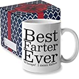 Best Farter Ever I Mean Father Funny Dad Mug by Find Funny Gift Ideas | Funny Fathers Day Mugs Gifts from Kids Son, FathersDay Gifts for Dad from Daughter | Best Dad Gifts Dads Coffee Cup