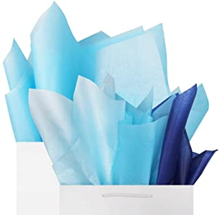 """Blue Tissue Gift Wrapping Paper 60 Sheets Set, 26"""" x 20, Baby Blue Sky Blue Ultramarine Premium Mix Recyclable Bulk, DIY Art Craft Decoration,Wedding, Baby Shower by BllalaLab"""
