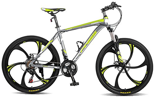 "Merax MS008700FAA Finiss 26"" Aluminum 21 Speed Mg Alloy Wheel Mountain Bike"