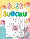2022 Sudoku: 365 Puzzles 9x9 Sudoku a Day with Solutions Calendar Of The Year 2022 For Adults, 5 Levels of Difficulty (Easy to Extreme), Yellow Cover
