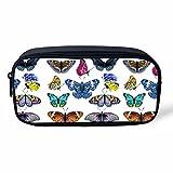 Chaqlin - Estuche para lápices y maquillaje, diseño de mariposas, color butterfly-5 Small
