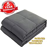 SONORO KATE Weighted Blanket 100% Cotton Material with Glass Beads Heavy Bed Blanket (Dark Grey, 60''x80'' 20lbs)